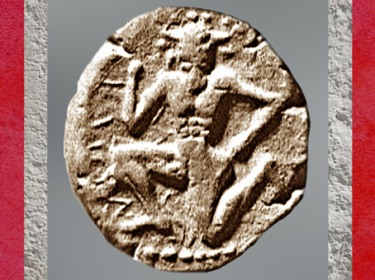 D'après le minotaure, statère de Cnossos, argent, vers 450 avjc, Crète, Grèce antique. (Marsailly/Blogostelle)