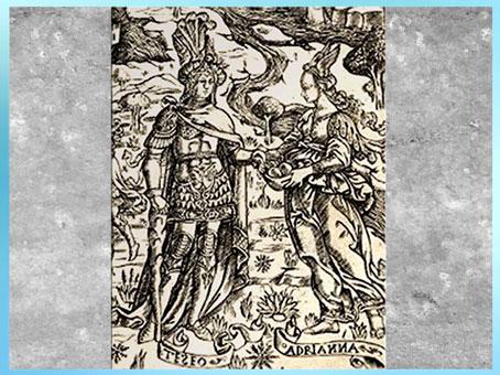 D'après Thésée et le fil d'Ariane, Baccio Baldini, gravure, détail, vers 1446, XVe siècle, Renaissance italienne. (Marsailly/Blogostelle)