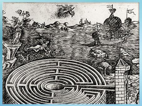 D'après Ariane et le navire de Thésée s'éloignant, Baccio Baldini, gravure, détail, vers 1446, XVe siècle, Renaissance italienne. (Marsailly/Blogostelle)