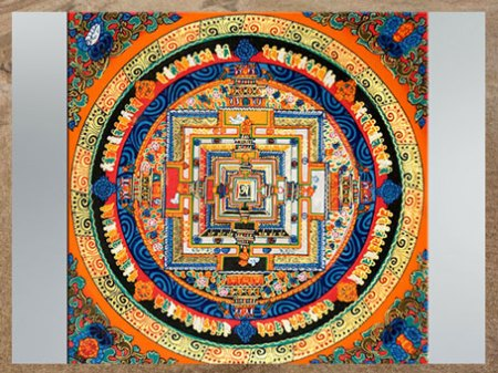 D'après un mandala tibétain Kalachakra, Roue du Temps, art Bouddhique. (Marsailly/Blogostelle)