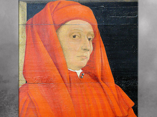 D'après Giotto di Bondone, Cinq maîtres de la Renaissance florentine, détail, anonyme, huile sur bois entoilé, fin XVe siècle-XVIe siècle, Florence, Renaissance italienne. (Marsailly/Blogostelle)