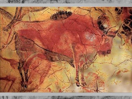 D'après un grand  bison, grotte d'Altamira, solutréen-magdalénien, Espagne, paléolithique supérieur. (Marsailly/Blogostelle)