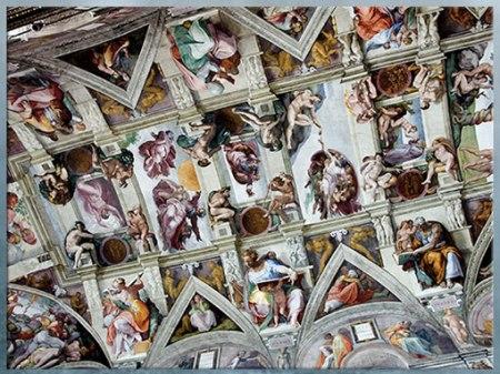 D'après Michelangelo, plafond de la Chapelle Sixtine, 1508 - 1512, Vatican, Rome, début XVIe siècle, Cinquecento, Renaissance italienne. (Marsailly/Blogostelle)