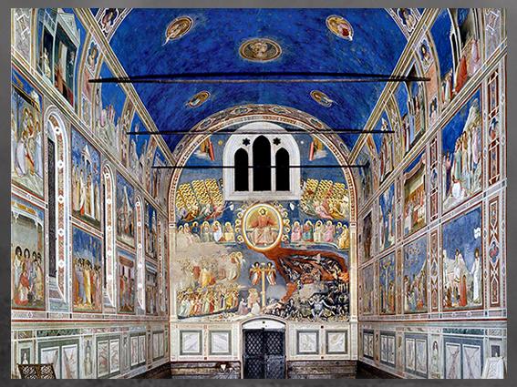 D'après Le Jugement dernier, de Giotto di Bondone, vers 1303-1306, fresques de la Chapelle Scrovegni de Padoue, Trecento italien. (Marsailly/Blogostelle)