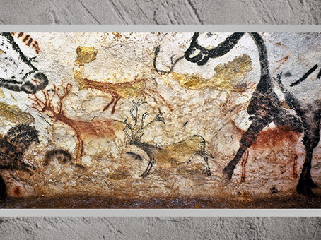 D'après des petits cerfs, vers 18 000 ans avjc, Lascaux, Magdalénien, Dordogne, France, paléolithique supérieur. (Marsailly/Blogostelle)