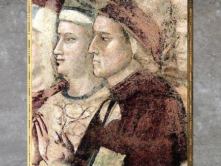 D'après Dante Alighieri, fresque du Paradis, Divine Comédie, de Giotto Di Bondone, 1335, chapelle du Bargello, Florence, XIVe siècle, Trecento italien. (Marsailly/Blogostelle)