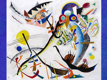 D'après Segment Bleu, de Vassily Kandinsky, 1921, huile sur toile, XXe siècle. (Marsailly/Blogostelle)