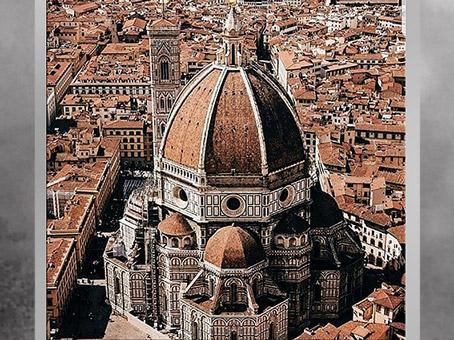 D'après Le Duomo, Santa Maria del Fiore, coupole de Filippo Brunelleschi, 1421-1436, XVe siècle, Florence, Quattrocento, Renaissance italienne. (Marsailly/Blogostelle)