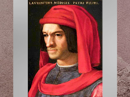 D'après Laurent de Médicis, dit Laurent le Magnifique, de Verrocchio, après 1478, terre cuite polychrome, Florence, XVe siècle, Quattrocento, Renaissance italienne. (Marsailly/Blogostelle)