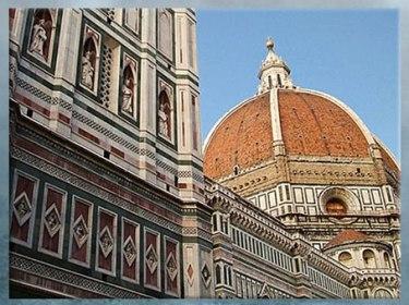 D'après la coupole de Philippo Brunelleschi, détail, Santa Maria del Fiore, 1421-1436, Florence, XVe siècle, Quattrocento, Renaissance italienne. (Marsailly/Blogostelle)