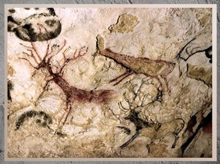 D'après des cerfs, grotte de Lascaux, peintures, vers 18 000 -10 000  avjc,  magdalénien, Dordogne, paléolithique supérieur. (Marsailly/Blogostelle)