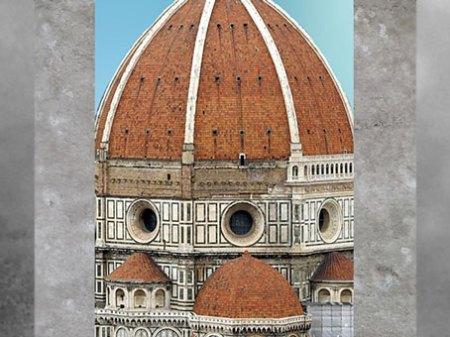 D'après le tambour octogonal de Santa Maria del Fiore et la coupole de Brunelleschi, 1421-1436, Florence, XVe siècle, Quattrocento, Renaissance italienne. (Marsailly/Blogostelle)