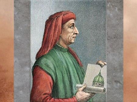 D'après Filippo Brunelleschi dans La vie des meilleurs architectes, peintres et sculpteurs italiens (1550)  de Giorgio Vasari, Renaissance italienne. (Marsailly/Blogostelle)