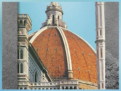 D'après la coupole nervurée de Philippo Brunelleschi, Santa Maria del Fiore, 1421-1436, Florence, XVe siècle, Quattrocento, Renaissance italienne. (Marsailly/Blogostelle)