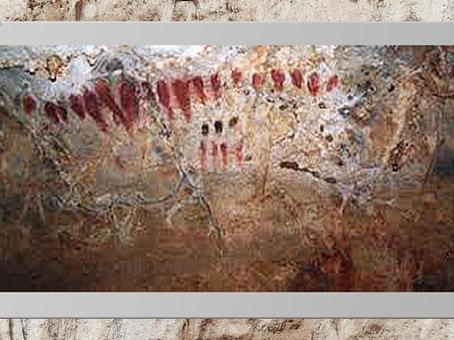 D'après des séries de signes, peintures, Cueva del Pindal, 13 000 - 18 000 avjc, Espagne, paléolithique supérieur. (Marsailly/Blogostelle)