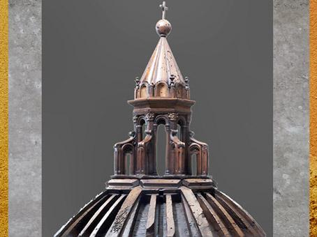 D'après la maquette du lanternon du dôme, dessin de Brunelleschi, Santa Maria del Fiore, Florence, XVe siècle, Quattrocento, Renaissance italienne. (Marsailly/Blogostelle)