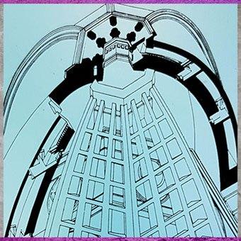 D'après la coupole à double coque de Philippo Brunelleschi, détail, Santa Maria del Fiore, 1421-1436, Florence, XVe siècle, Quattrocento, Renaissance italienne. (Marsailly/Blogostelle)