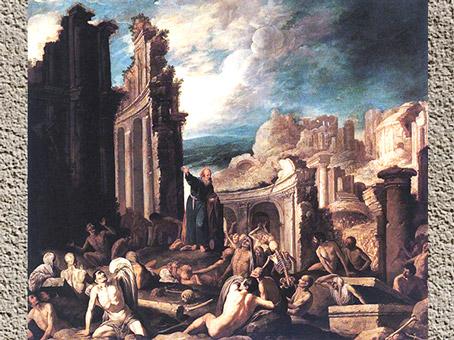 D'après La vision d'Ézéchiel, de Francisco Collantes, 1630, huile sur toile, XVIIe siècle, Espagne. (Marsailly/Blogostelle)