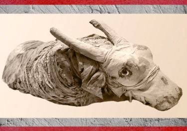 D'après une momie de bovidé, Egypte ancienne. (Marsailly/Blogostelle)