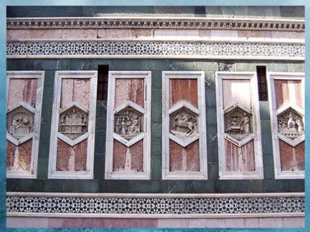 D'après les reliefs du campanile de Giotto, soubassement, Santa Maria del Fiore, 1334, Florence, XIVe siècle, Trecento italien. (Marsailly/Blogostelle)