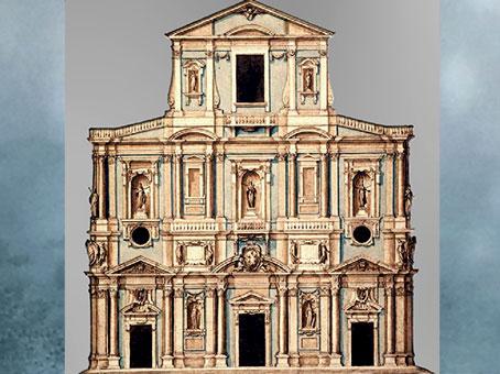 D'après le projet non réalisé de Bernardo Buontalenti, 1589, Santa Maria del Fiore, XVIe siècle, dessin de Ludovico Cigoli, Renaissance italienne.  (Marsailly/Blogostelle)