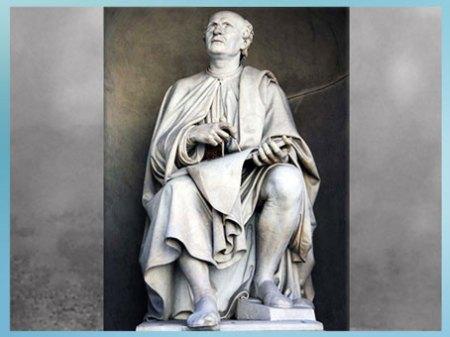 D'après Filippo Brunelleschi, avec compas et plans, statue de Luigi Pampaloni, 1827-1830, statue en marbre, XIXe siècle, Piazza del Duomo, Florence. (Marsailly/Blogostelle)