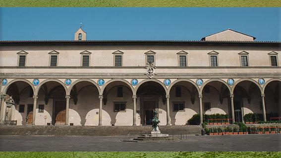 D'après l'Hôpital des Innocents, Filippo Brunelleschi, 1419-1428, Florence, XVe siècle, Quattrocento, Renaissance italienne. (Marsailly/Blogostelle)