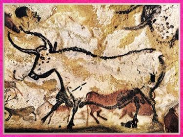 D'après un grand taureau, grotte de Lascaux, peinture rupestre, vers 18 000 ans avjc, magdalénien, Dordogne, France, paléolithique supérieur. (Marsailly/Blogostelle)