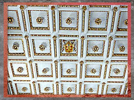 D'après l'église San Lorenzo, reconstruction de Filippo Brunelleschi, blason des Médicis, 1419, Florence, XVe siècle, Quattrocento, Renaissance italienne. (Marsailly/Blogostelle)