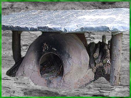 D'après la reconstitution d'un four, site de Michaelsberg, Allemagne, néolithique. (Marsailly/Blogostelle)