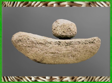 D'après une meule à grains, sommaire néolithique, histoire de l'art. (Marsailly/Blogostelle)