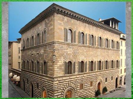 D'après le palais Médicis-Riccardi, Michelozzo, façade, 1444 -1459, Florence, XVe siècle, Quattrocento, Renaissance italienne. (Marsailly/Blogostelle)