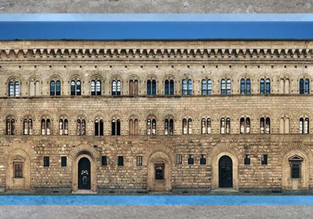 D'après le palais Médicis-Riccardi, façade, Michelozzo, 1444 -1459, Florence, XVe siècle, Quattrocento, Renaissance italienne. (Marsailly/Blogostelle)