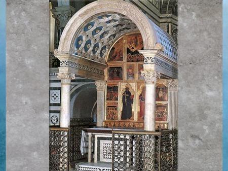 D'après la chapelle du crucifix, 1447, San Miniato, Michelozzo, XVe siècle, Florence, Quattrocento, Renaissance italienne. (Marsailly/Blogostelle)