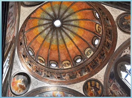 D'après la chapelle Portinari, Sant'eustorgio, coupole, Michelozzo, vers 1463, XVe siècle, Milan, Quattrocento, Renaissance italienne. (Marsailly/Blogostelle)