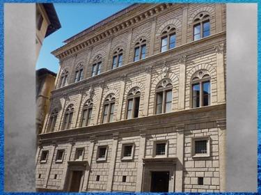 D'après le palais Rucellai, plans de Léon Battista Alberti, 1446, construction Bernardo Rossellino, 1446 -1451, Florence, Quattrocento, Renaissance italienne. (Marsailly/Blogostelle)