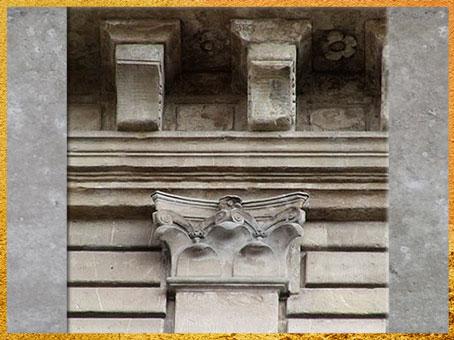 D'après le palais Rucellai, plans de Léon Battista Alberti, 1446, détail pilastre,  construction Bernardo Rossellino, 1446 -1451, Florence, Quattrocento, Renaissance italienne. (Marsailly/Blogostelle)