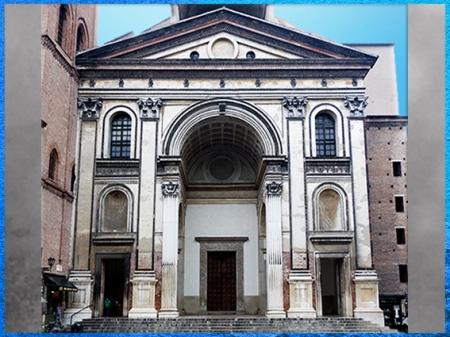 D'après l'église Sant'andrea, façade, architecte Leon Battista Alberti, 1472-1490, Mantoue, XVe siècle, Quattrocento, Renaissance italienne. (Marsailly/Blogostelle)