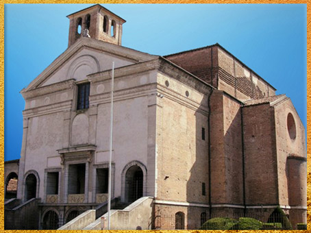 D'après San Sebastiano, architecte Leon Battista Alberti, 1460, Mantoue, XVe siècle, Quattrocento, Renaissance italienne. (Marsailly/Blogostelle)