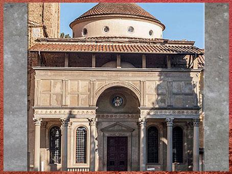 D'après la chapelle des Pazzi, Santa Croce, Filippo Brunelleschi, Florence, XVe siècle, Quattrocento, Renaissance italienne. (Marsailly/Blogostelle)
