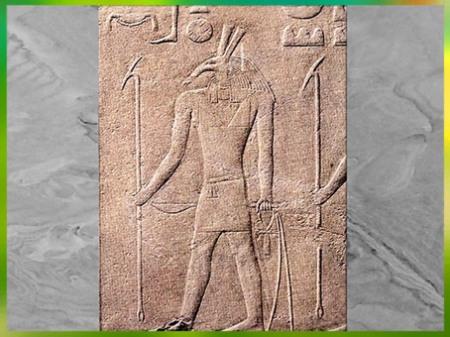 D'après le dieu Seth, relief calcaire, Ve dynastie, temple funéraire de Sahourê, Saqqarah, Ancien Empire, Égypte Ancienne. (Marsailly/Blogostelle)