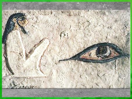 D'après le nom d'Osiris partiel, peinture, mastaba d'Irukaptah Khenu., boucher en chef, Ve dynastie, nécropole de Saqqarah, Ancien Empire, Égypte Ancienne. (Marsailly/Blogostelle)