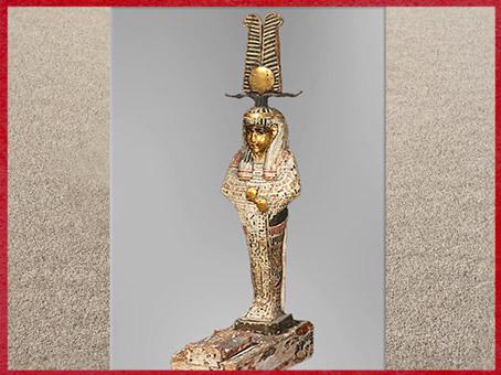 D'après Osiris, statuette votive creuse d'Ankhpakhered, bois peint, vers 379 - 342 avjc, XXXe dynastie, Basse époque, Égypte Ancienne. (Marsailly/Blogostelle)