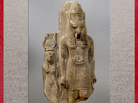 D'après le dieu Seth et son épouse Nephtys, sculpture en pierre, règne de Ramsès II, Nouvel Empire, Égypte Ancienne. (Marsailly/Blogostelle)
