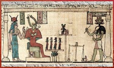 D'après la déesse Isis, Osiris et Thot, Premier Livre des Respirations d'Ousirour, IIe-IIIe siècle avjc, époque Ptolémaïque, Égypte ancienne. (Marsailly/Blogostelle)