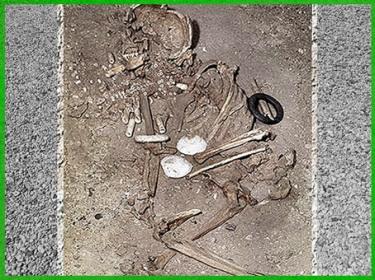 D'après une sépulture féminine avec parures, vers 4 500 avjc, Cys-la-Commune, Aisne, France, néolithique. (Marsailly/Blogostelle)