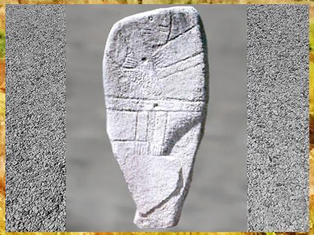 D'après une statue-menhir, Aveyron, France, néolithique, (Marsailly/Blogostelle)
