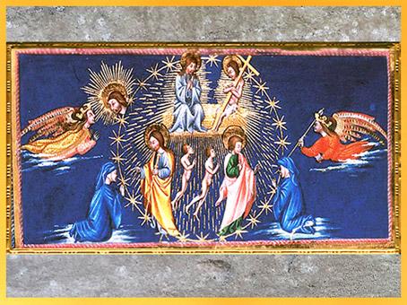 D'après le Paradis, Christ, de Giovanni di Paolo, 1450, Divine Comédie, Toscane, XVe siècle, Renaissance. (Marsailly/Blogostelle)