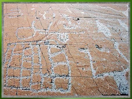 D'après des représentations rupestres, mont Bego, Vallée des Merveilles, fin IIIe-début IIe millénaire avjc, Alpes Maritimes, âge du Cuivre et du Bronze. (Marsailly/Blogostelle)