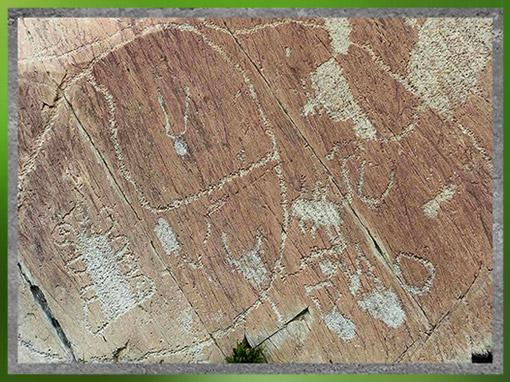 D'après des graphismes rupestres, mont Bego, Vallée des Merveilles, fin IIIe-début IIe millénaire avjc, Alpes Maritimes, âge du Cuivre et du Bronze. (Marsailly/Blogostelle)